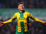 Harvey Barnes in action for West Brom on November 23, 2018