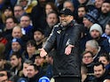 Jurgen Klopp gets frustrated as Liverpool struggle against Brighton & Hove Albion on January 12, 2019.