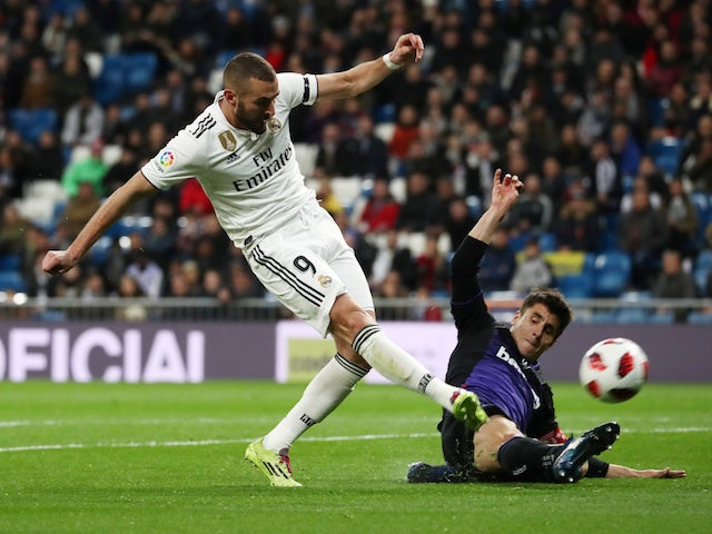 Karim Benzema in action during Real Madrid's Copa del Rey clash with Leganes on January 9, 2019.