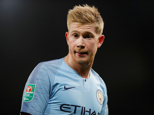 Kevin De Bruyne channels Rowan Atkinson during the EFL Cup semi-final game between Manchester City and Burton Albion on January 9, 2019