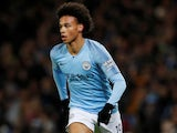 Leroy Sane in action during the EFL Cup semi-final game between Manchester City and Burton Albion on January 9, 2019