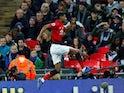 Manchester United striker Marcus Rashford celebrates scoring against Tottenham Hotspur on January 13, 2019