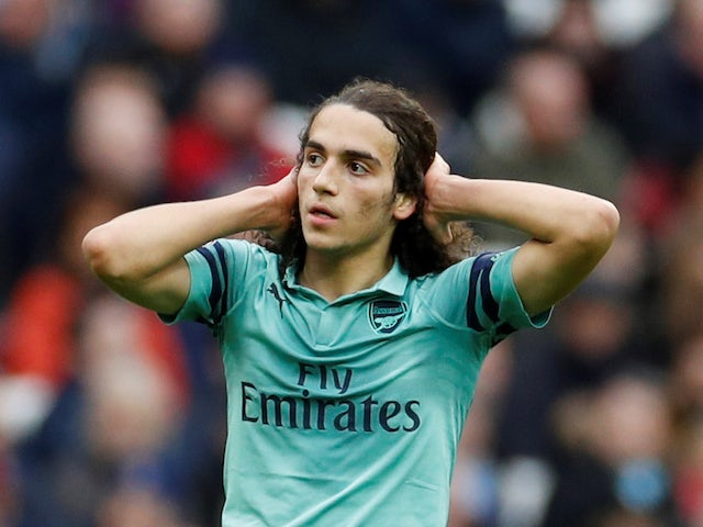 Arsenal midfielder Matteo Guendouzi in action during his side's Premier League clash with West Ham on January 12, 2019