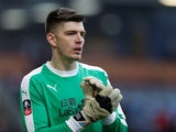Nick Pope in action for Burnley on January 5, 2019