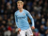 Oleksandr Zinchenko in action during the EFL Cup semi-final game between Manchester City and Burton Albion on January 9, 2019