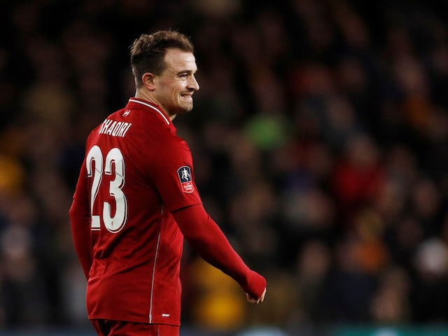 Xherdan Shaqiri grimaces after Liverpool fall to defeat at the hands of Wolverhampton Wanderers on January 7, 2019