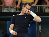 Andy Murray pictured during his Australian Open first round defeat to Roberto Bautista Agut on January 14, 2019