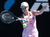 Ashleigh Barty in action at the Australian Open on January 20, 2019