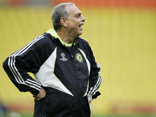 Avram Grant as Chelsea manager ahead of the 2008 Champions League final.