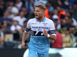 Lazio striker Ciro Immobile pictured in September 2018
