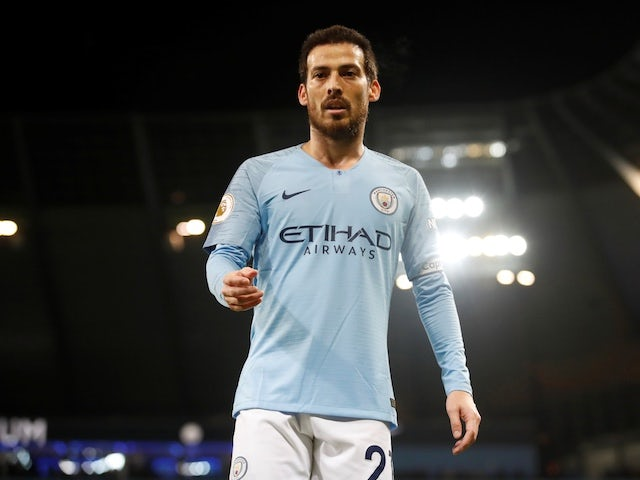 Manchester City midfielder David Silva in action during the Premier League clash with Wolverhampton Wanderers on January 14, 2019
