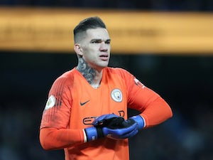 Manchester City goalkeeper Ederson in action during the Premier League clash with Wolverhampton Wanderers on January 14, 2019