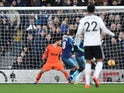 Fernando Llorente scores an own for Tottenham Hotspur against Fulham in the Premier League on January 20, 2019.