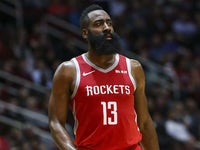James Harden in action for Houston Rockets on January 14, 2019