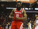 James Harden in action for Houston Rockets on January 16, 2019