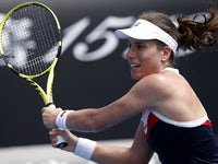 Johanna Konta in action at the Australian Open on January 15, 2019