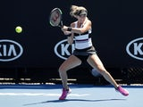 Katie Boulter pictured at the Australian Open on January 14, 2019