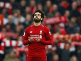 Mohamed Salah in action for Liverpool on January 19, 2019