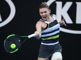 Simona Halep in action at the Australian Open on January 19, 2019