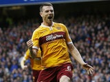 Stephen McManus in action for Motherwell in May 2015