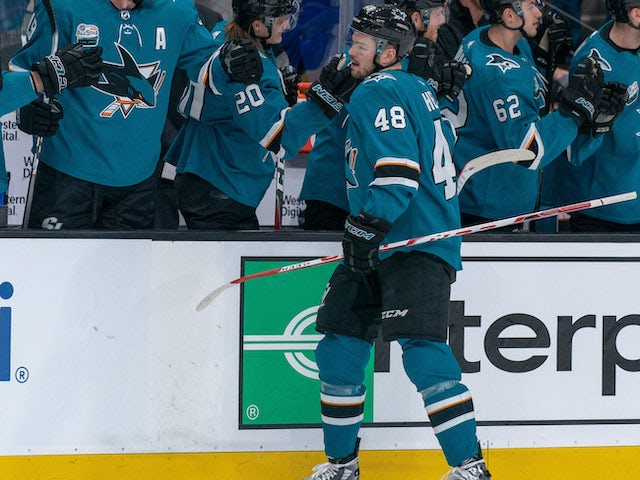 Result: Tomas Hertl hat-trick helps the San Jose Sharks to victory