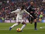 Real Madrid attacker Vinicius Junior in action against Sevilla on January 19, 2019.