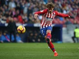 Antoine Griezmann in action for Atletico Madrid on January 26, 2019