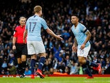 Manchester City forward Gabriel Jesus celebrates scoring against Burnley in the FA Cup on January 26, 2019.