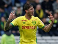 Emiliano Sala in action for Nantes in late 2017