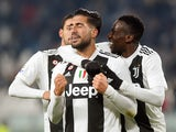 Emre Can celebrates scoring for Juventus during his side's win over Chievo on January 21, 2019