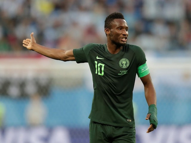Nigeria midfielder John Obi Mikel in action during the 2018 World Cup
