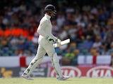 England's Keaton Jennings loses his wicket on January 24, 2019