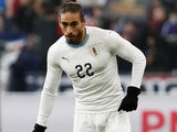 Martin Caceres in action for Uruguay in November 2018