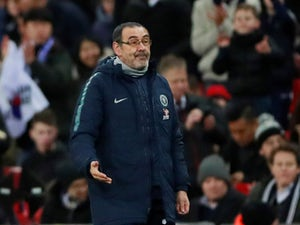Maurizio Sarri in charge of Chelsea on January 8, 2019
