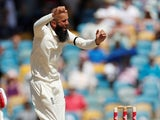 Moeen Ali in action for England against West Indies on January 23, 2019