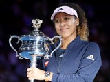 Naomi Osaka poses with her trophy after winning the Australian Open on January 26, 2019