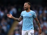 Nicolas Otamendi in action for Manchester City on September 29, 2018