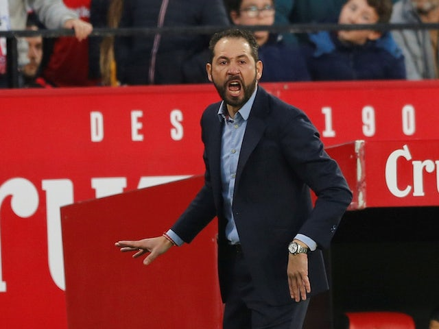 Pablo Machin in charge of Sevilla on January 6, 2019