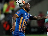 Abu Ogogo in action for Shrewsbury Town in 2018