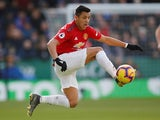 Manchester United forward Alexis Sanchez in action against Leicester City on February 3, 2019