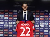 Alvaro Morata is unveiled as an Atletico Madrid player on January 29, 2019
