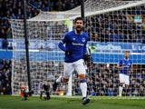 Everton's Andre Gomes celebrates scoring against Wolves on February 2, 2019