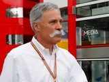 F1 chief executive Chase Carey takes his moustache for a stroll in September 2018