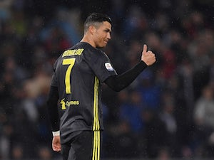 Cristiano Ronaldo in action for Juventus on January 27, 2019