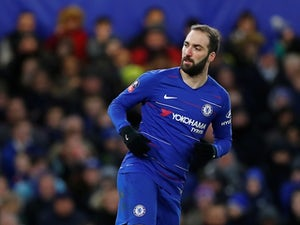 Chelsea striker Gonzalo Higuain in action during the FA Cup clash with Sheffield Wednesday on January 27, 2019
