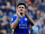 Leicester City defender Harry Maguire in action during his side's Premier League clash with Manchester United on February 3, 2019