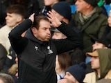 Huddersfield Town manager Jan Siewert reacts during his side's Premier League clash with Chelsea on February 2, 2019
