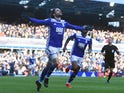 Birmingham's Jota celebrates scoring their first goal against Nottingham Forest on February 2, 2019