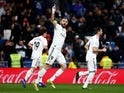 Real Madrid forward Karim Benzema celebrates scoring against Alaves in La Liga on February 3, 2019