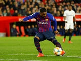 Malcom in action for Barcelona on January 23, 2019